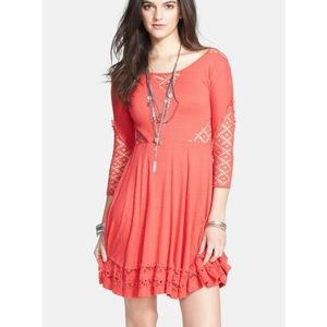 Free People To the Point Fit and Flare Dress